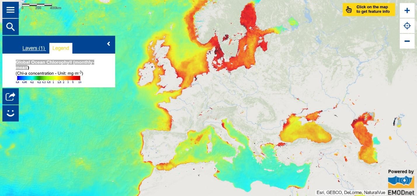 Map of the Week – Global Ocean Chlorophyll (monthly-mean)