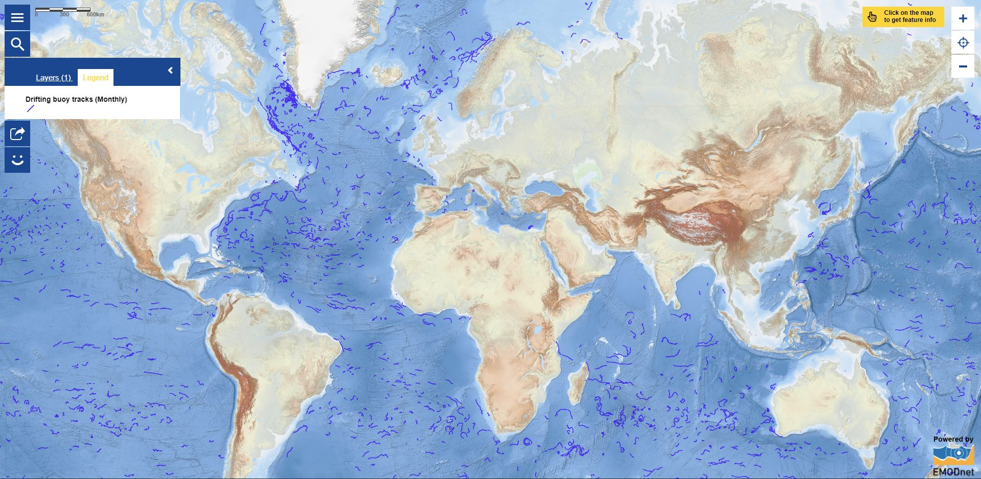 Map of the Week – Monthly drifting buoy trajectories