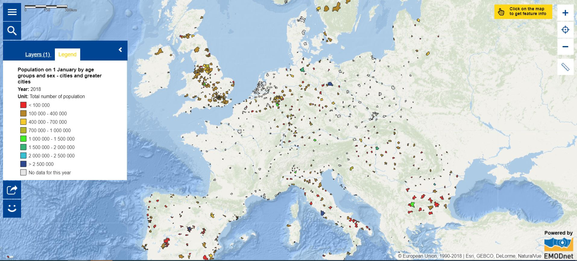 Map of the Week – Population in cities