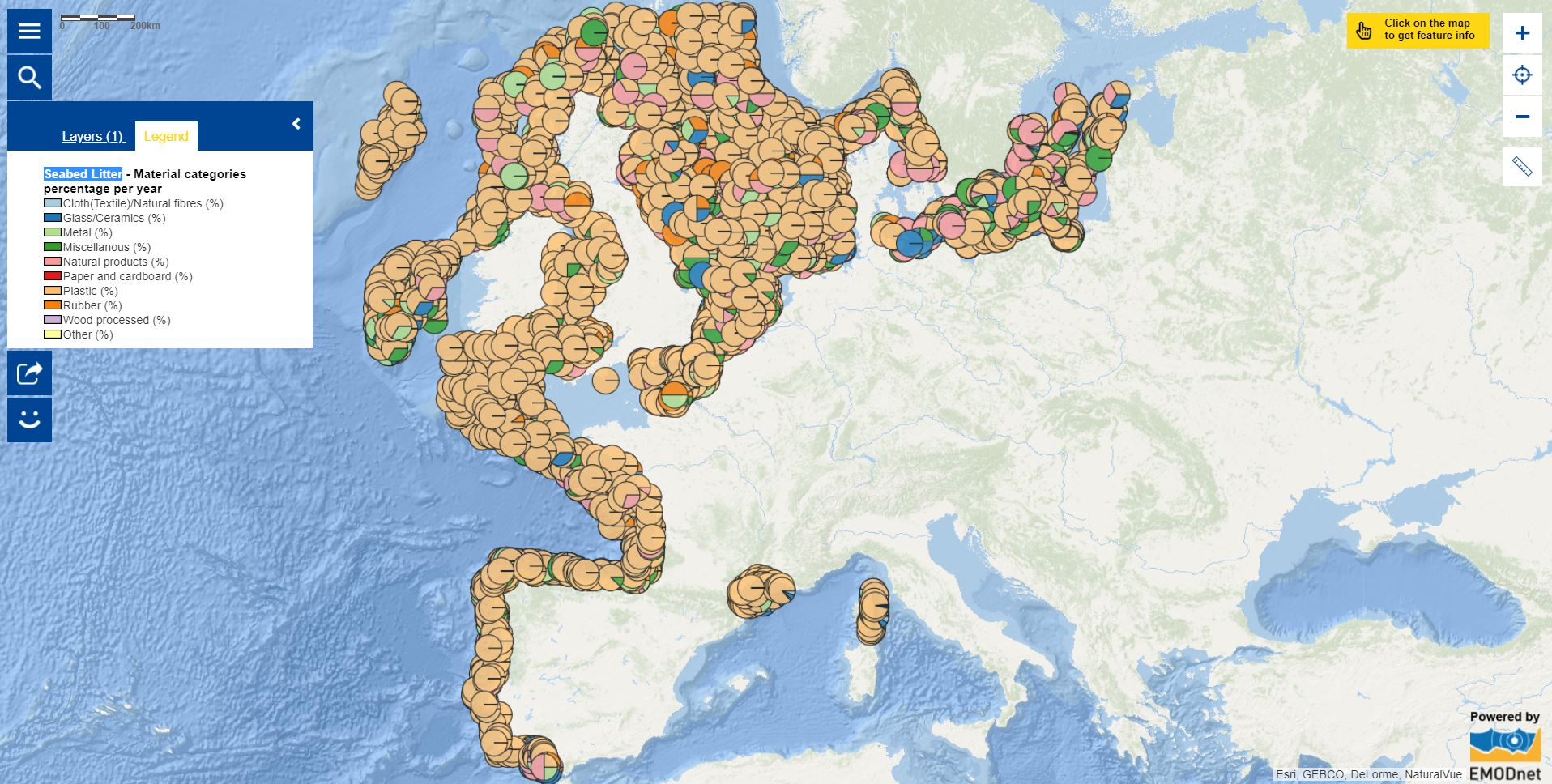 Map of the week – Seabed Litter