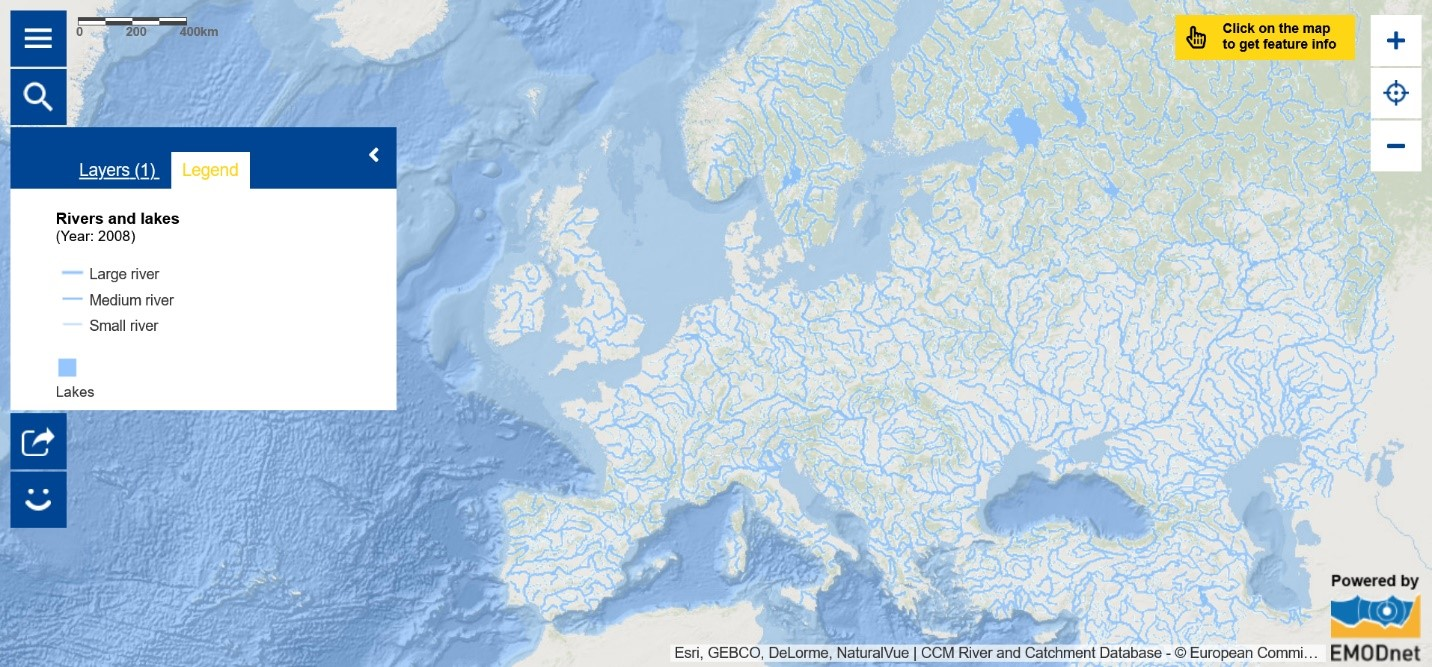 Map of the Week – Rivers and lakes