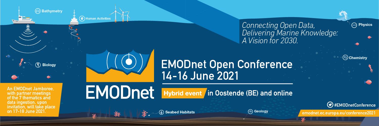 EMODnet Open Conference 2021 banner