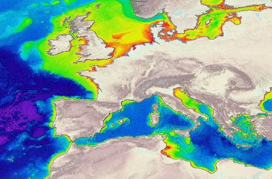 Bathymetry Central Portal - Water depth map