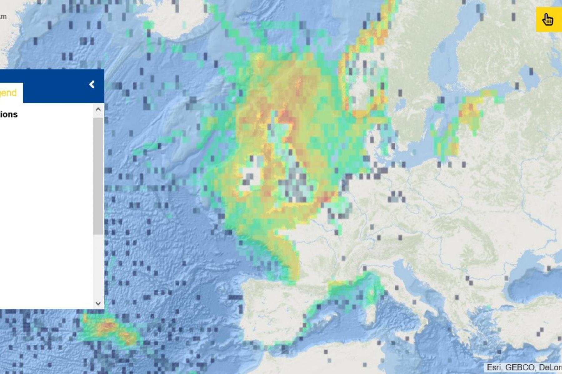 Map of the Week – Marine bird observations