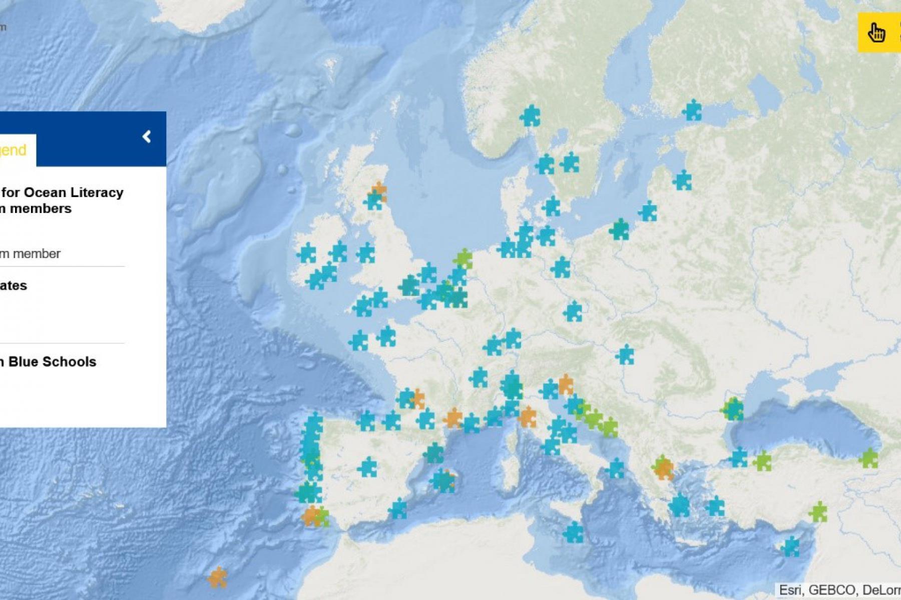 Map of the Week – EU4Ocean and Ocean Literacy in Europe