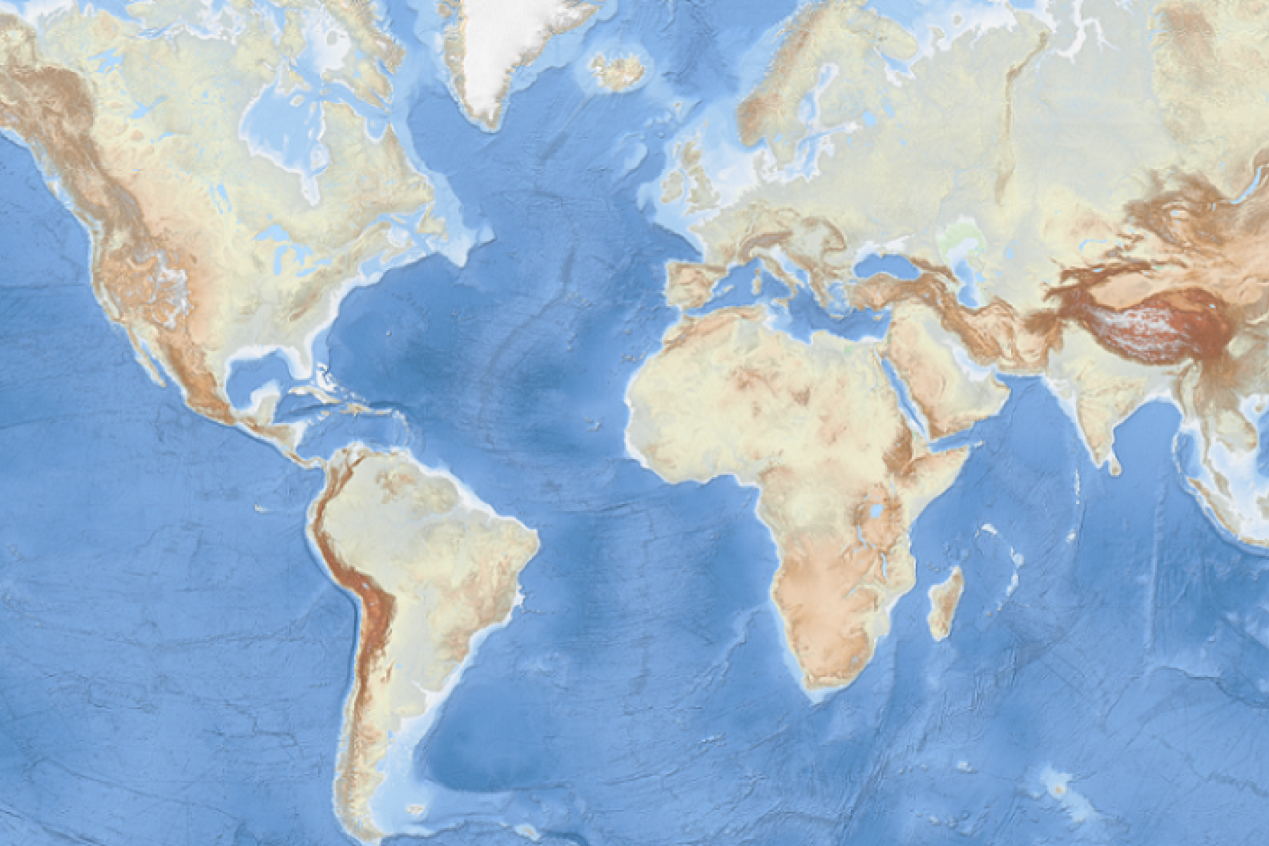 The EMODnet World Base Layer Service offers the highest resolved bathymetric worldwide layout