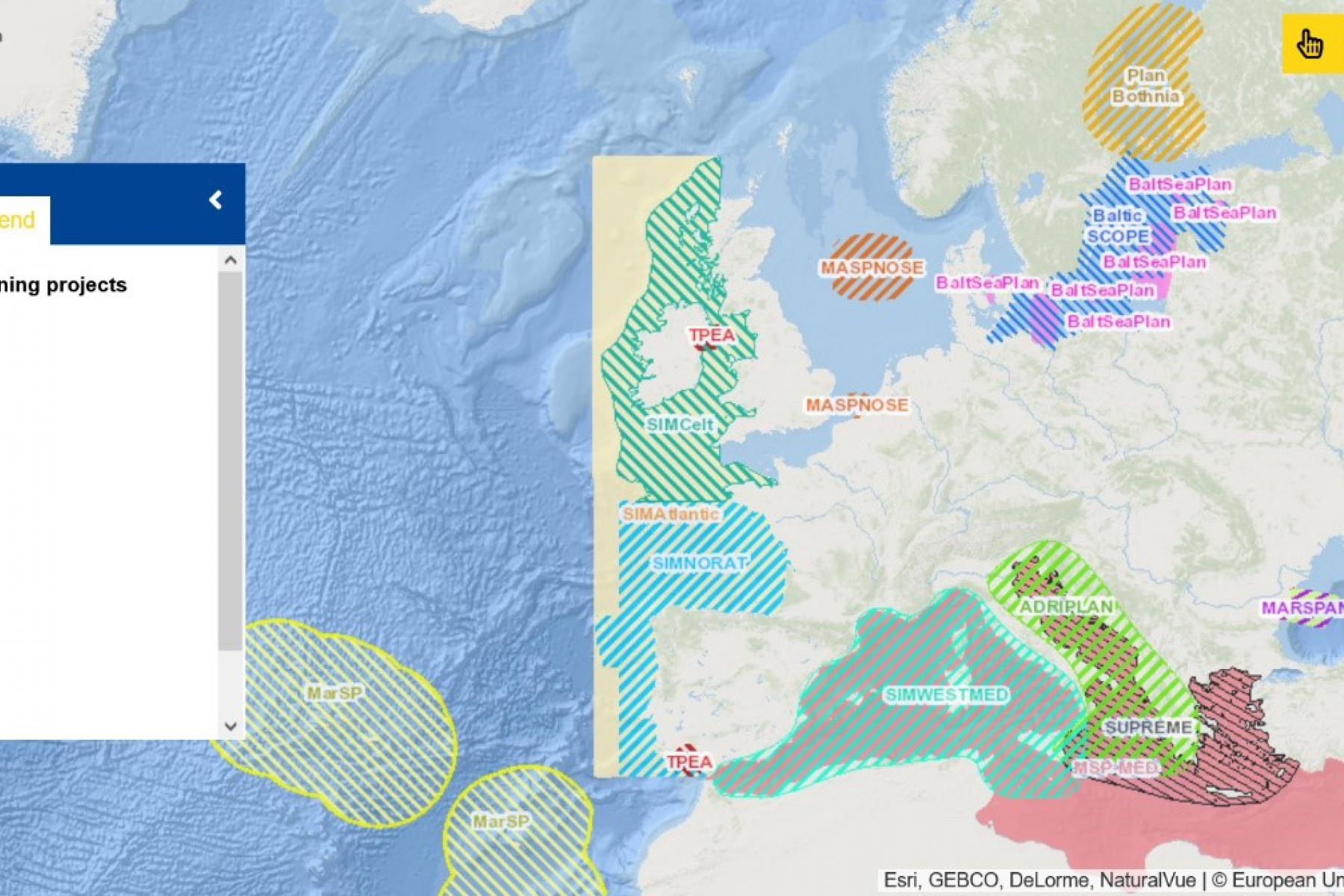 Map of the Week – Maritime spatial planning projects