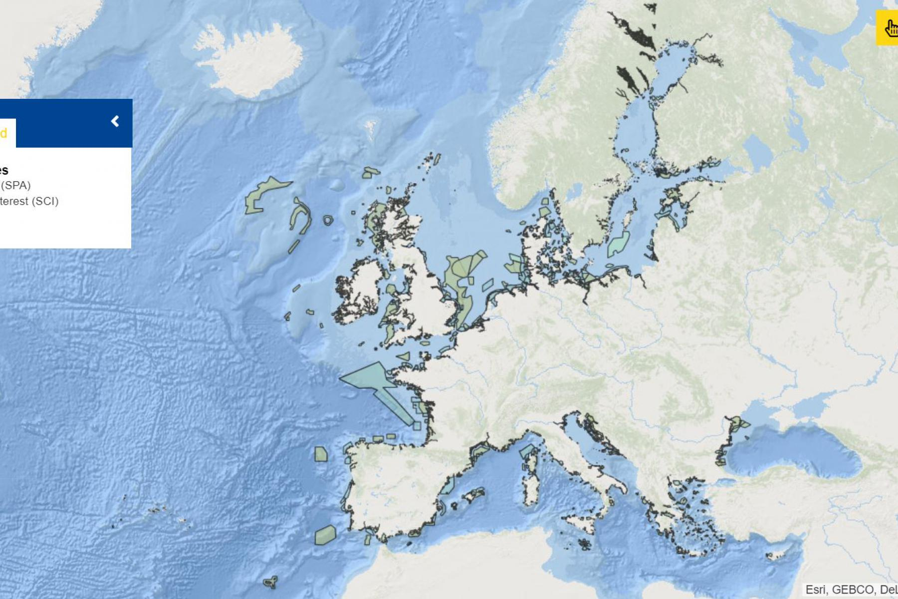 Map of the week - Marine Natura 2000 Sites