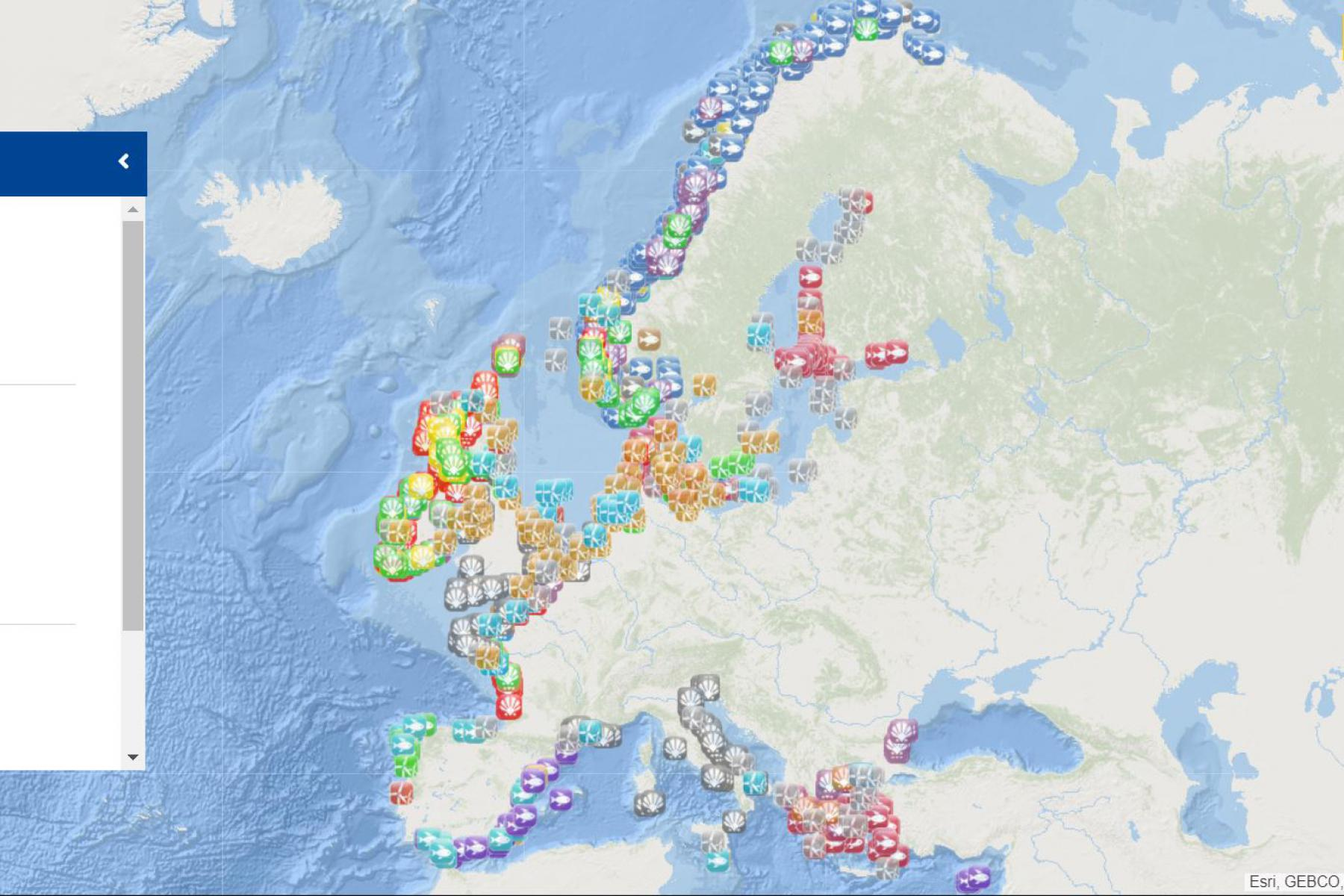 Map of the week – MSP: Aquaculture and wind farms