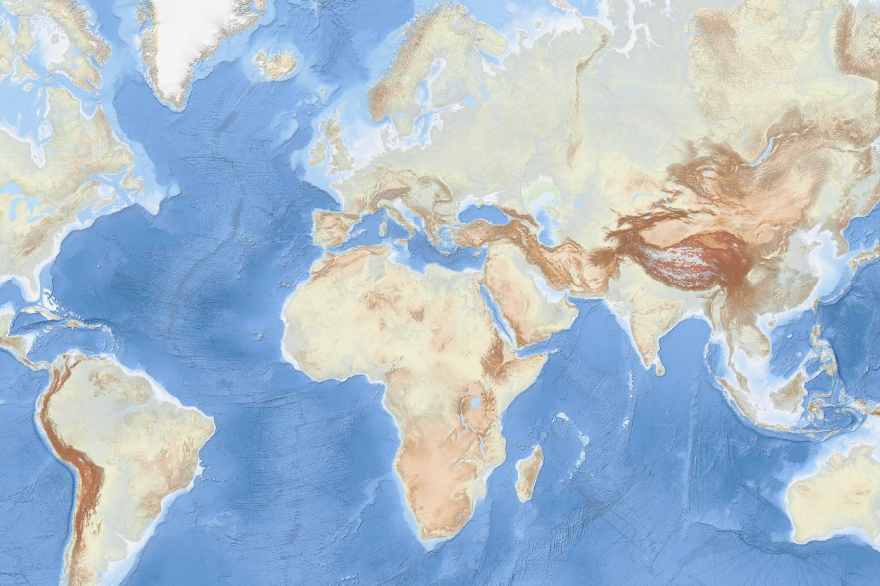 Map of the Week – EMODnet Bathymetry world base layer