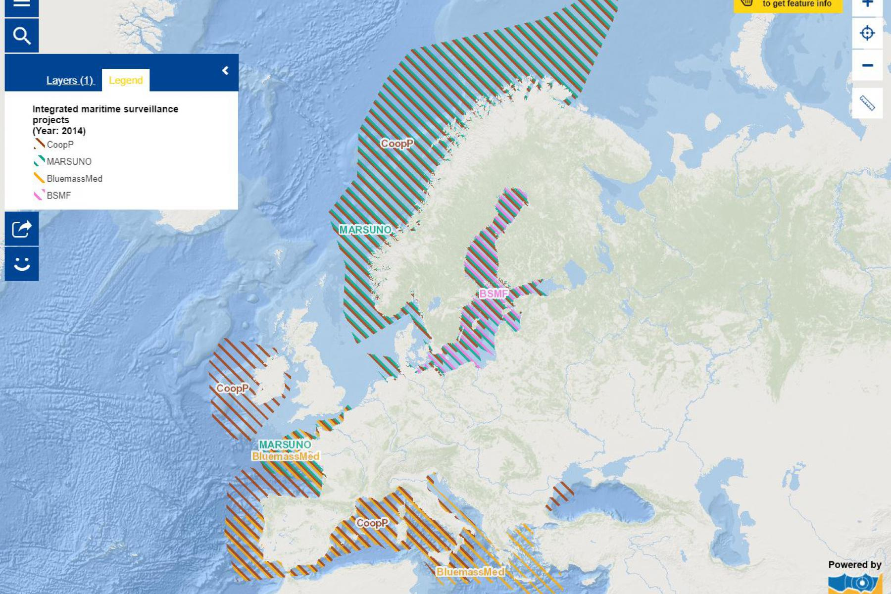 Map of the week – Integrated Maritime Surveillance Projects