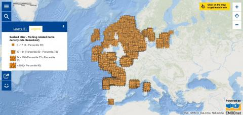 Map of the Week – Seabed litter - Fishing related items density