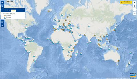Map of the Week – #EUBeachCleanUp