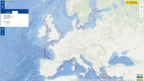 Map of the Week – Ferry Routes