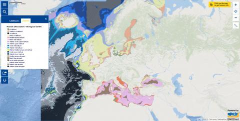 Map of the week – Habitat Descriptors – Biological zones
