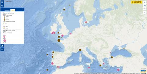 Map of the week – Oil spill incidents and response vessels