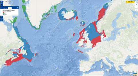 Map of the Week – Predicted climate change impact on the Atlantic cod habitat