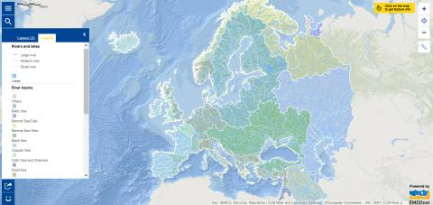 Map of the week – Rivers, lakes and river basins