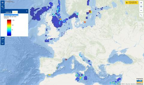 Map of the week – Underwater noise indicator