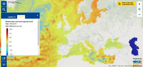 Map of the Week – Global mean sea level regional trend